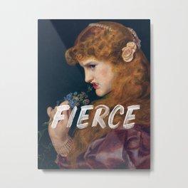 Fierce - Feminist Metal Print