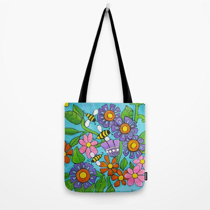 Springtime Series #4 Bee's Tote Bag