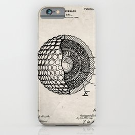 Golf Ball Patent - Golfer Art - Antique iPhone Case