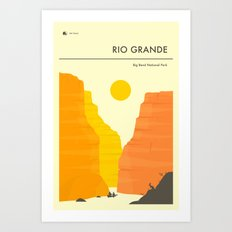 THE RIO GRANDE Art Print