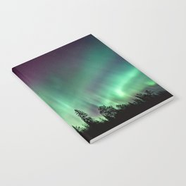 Colorful Northern Lights, Aurora Borealis Notebook