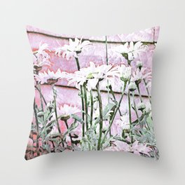 All For The Love of Daisies Throw Pillow