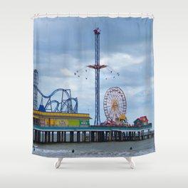 Pleasure Pier - Galveston Texas Shower Curtain