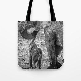 B&W Elephant Love 3 Tote Bag