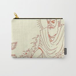 Hindu Monk Meditation Textile Carry-All Pouch