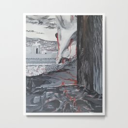 The Savior Looking over Jerusalem Metal Print