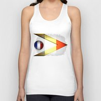france Tank Tops featuring France by ilustrarte