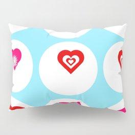 9 hearts Pillow Sham