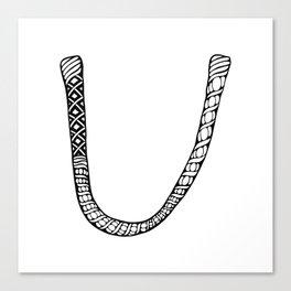Monogram letter U Canvas Print