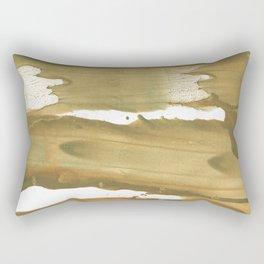 Dark khaki colored wash drawing paper Rectangular Pillow