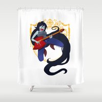 marceline Shower Curtains featuring Marceline by Roe Mesquita