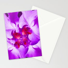 Abstract Orchid In Lavender Stationery Cards