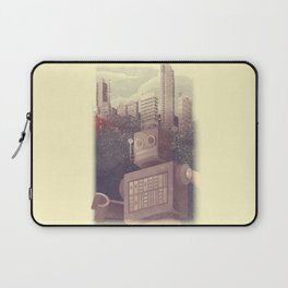 A City Snow-Bot Laptop Sleeve