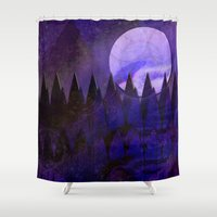 silent Shower Curtains featuring Silent Forest by mimulux