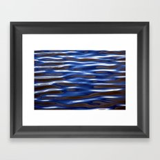 Blue Corrugated Water Framed Art Print