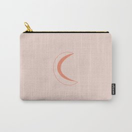 Crescent Side of the Moon (peach) Carry-All Pouch