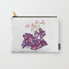 purple oxalis watercolor  Carry-All Pouch