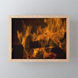 Fireside Warmth Framed Mini Art Print