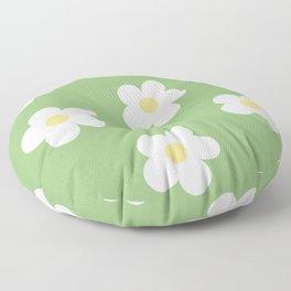 Retro 60's Flower Power Print Floor Pillow