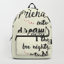 Thank God, every day, quote for inspiration, motivation, overcome, difficulties, typographyw Backpack