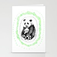 pandas Stationery Cards featuring PANDAS! by Sagara Hirsch