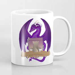 Clan Lochguard Purple Dragon Crest Coffee Mug