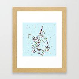 Behold the Wondrous Unicat! Framed Art Print