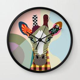 Stand Tall Giraffe Wall Clock