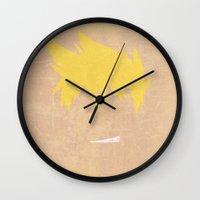 gurren lagann Wall Clocks featuring Minimalist Kittan by 5eth