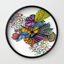 Coloured Zoodle Wall Clock