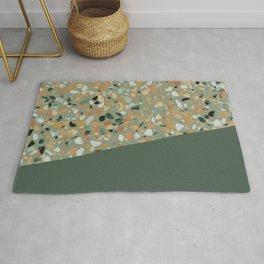 Terrazzo Texture Military Green #4 Rug