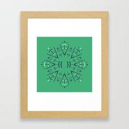 Code Mandala - Vue framework - light version Framed Art Print