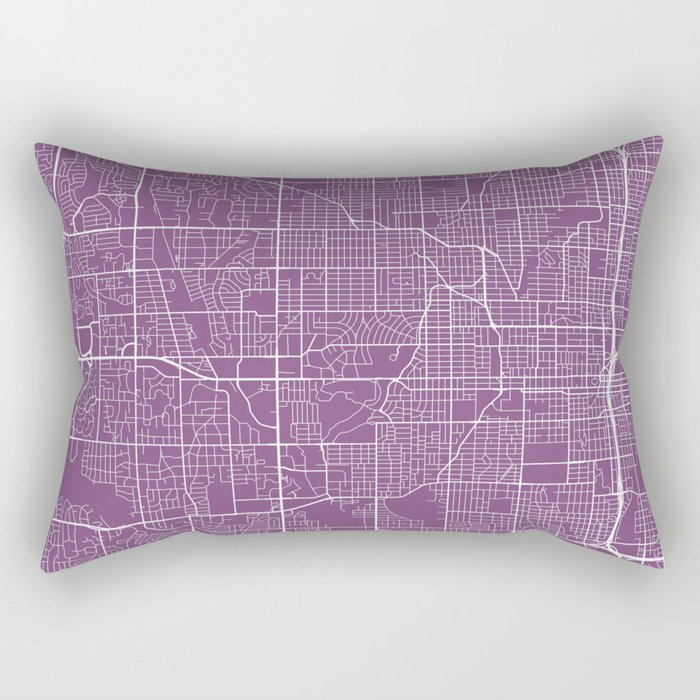 Omaha Map, USA - Purple Rectangular Pillow