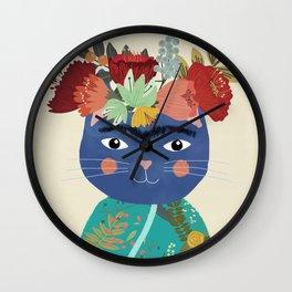 Frida Cat Wall Clock