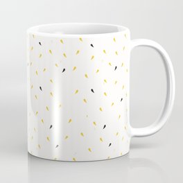 Yellow Gold Ditsy Confetti Drops Trendy Print Coffee Mug