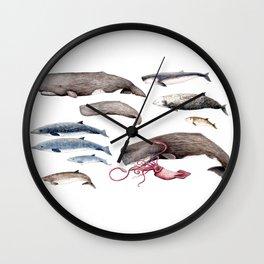 Deep sea whales Wall Clock
