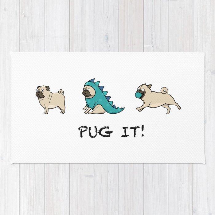 PUG, PUGS (great on teeshirts)! Rug