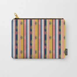 Bold Vertical Geometric Firework Pattern Carry-All Pouch