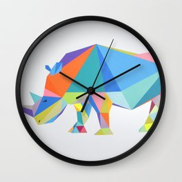 Pop rhino Wall Clock
