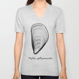 black or white mussel it's my life Unisex V-Neck
