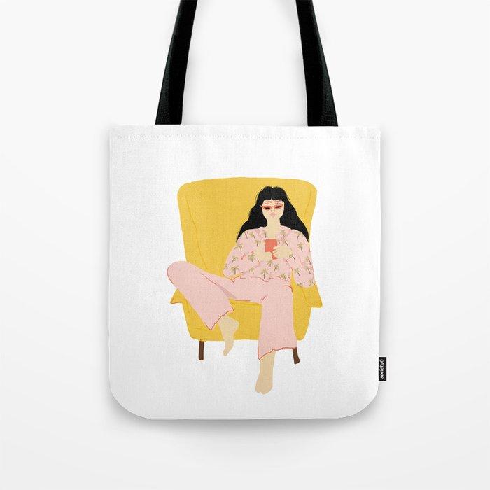 Pyjama Sunday Tote Bag