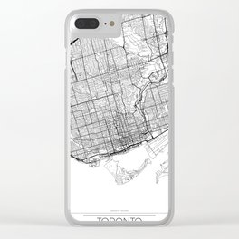 Toronto Map White Clear iPhone Case