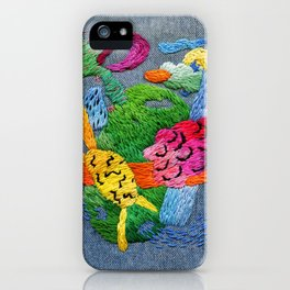 abstract embroidery iPhone Case