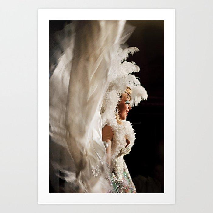 56036affb6c7 Lola In White Art Print