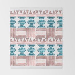 Blush and Blue Throw Blanket