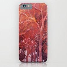 Alberi rossi nel bosco Slim Case iPhone 6s