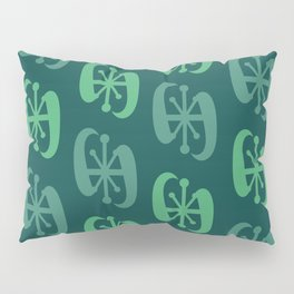 Starburst Bell Peppers Dark Green Pillow Sham