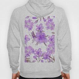 Watercolor lavender lilac brown modern floral Hoody