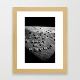 EVIL SCRABBLE! Framed Art Print