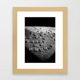 EVIL SCRABBLE! Framed Art Print